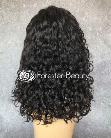 Indian Virgin Human Hair Front Lace Wig N90