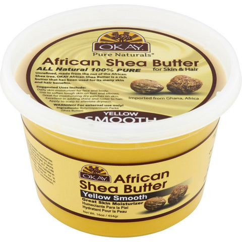 Okay African Shea Butter Yellow 13oz