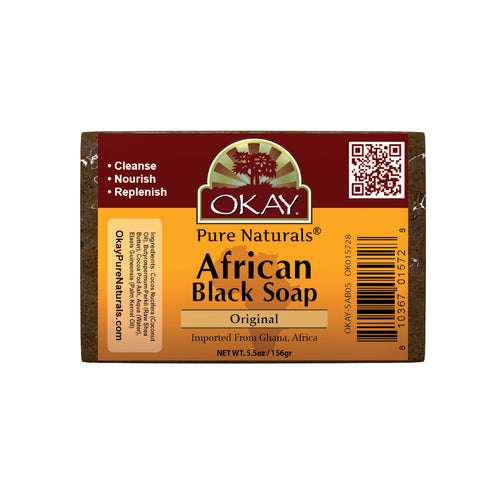 Okay Original African Black Soap Bar