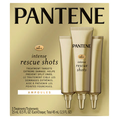 Pantene Pro-V Rescue Shots for Repair of Damaged Hair, 3 Pk
