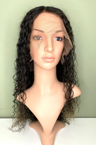 Indian Virgin Human Hair Front Lace Wig S1 DW