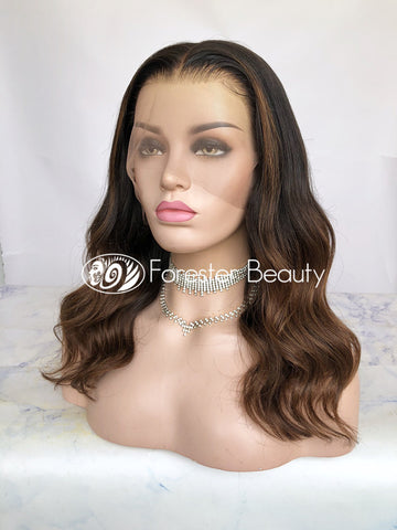 Indian Virgin Human Hair Front Lace Wig S29