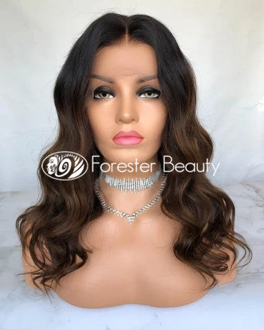 Indian Virgin Human Hair Front Lace Wig S5