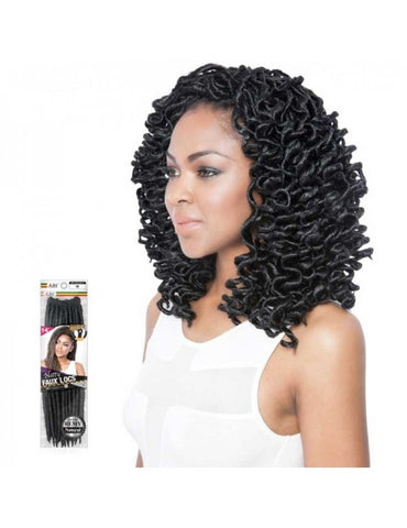"Afri-Naptural Curled Faux Locs 14"" 1B"