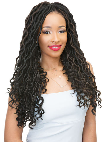 JANET COLLECTION  WAVE BOHEMIAN LOCS 18″