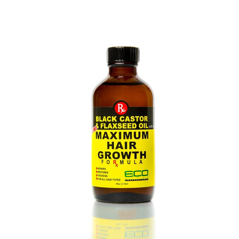 ECO STYLER black castor & flaxseed oil maximum hair growth formula 2oz