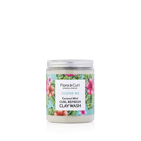 Flora & Curl Soothe Me Coconut Mint Curl Refresh Clay Wash
