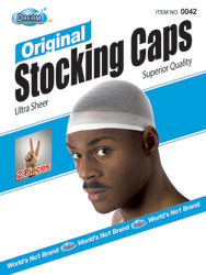 Dream Stocking Wave Cap [Black] 2pcs/pk