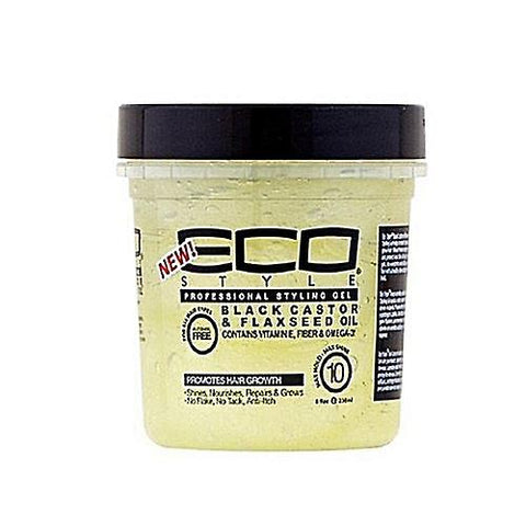 Eco Styler Black Castor & Flaxseed Gel 24Oz.