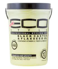 Eco Styler Black Castor & Flaxseed Gel 80Oz.