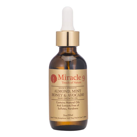 Miracle9 Miracle9 Salem's Strength Almond, Mint Honey & Avocado Hair Growth Oil
