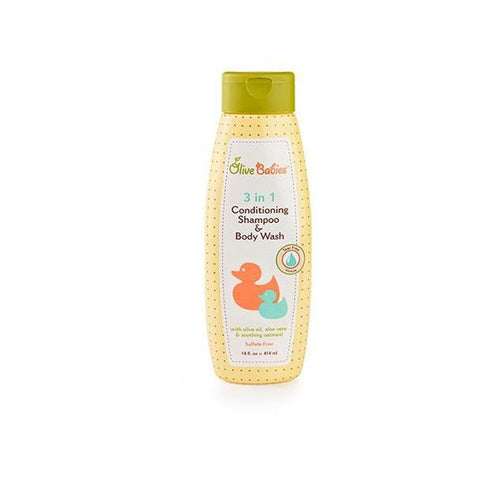 Olive Babies 3 in 1 Conditioning Shampoo & Body Wash