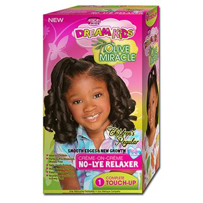 African Pride Dream Kids Olive Miracle Relaxer Kit No-Lye 1-touch up