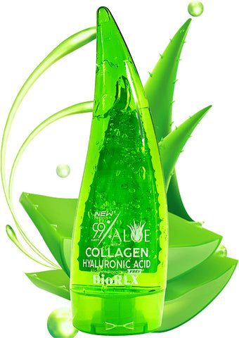 BioRLX 99% Purity Aloe Vera Gel with Collagen and Hyaluronic Acid