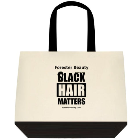 Black Hair Matters Canvas Tote