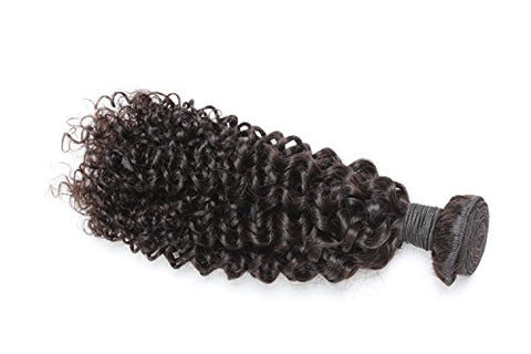 "Brazilian Unprocessed Remy Human Hair Weave 16"" Curly"