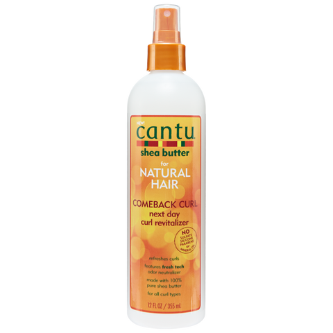Cantu Shea Butter Natural Hair Comeback Curl Next Day Curl Revitalizer