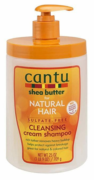 Cantu Shea Butter Natural Hair Sulfate-Free Cleansing Cream Shampoo 25oz