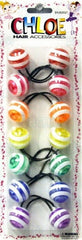 Chloe Jumbo ponytail holders Striped colors