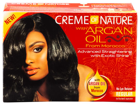 Creme of Nature Argan Oil No-Lye Relaxer Kit Regular Strength