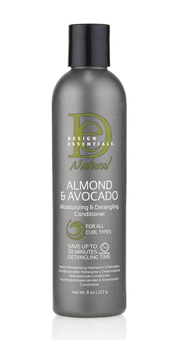 Design Essentials Almond & Avocado Moisturizing & Detangling Conditioner 8oz