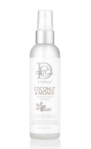 Design Essentials Coconut & Monoi Intense Shine Oil Mist 4oz