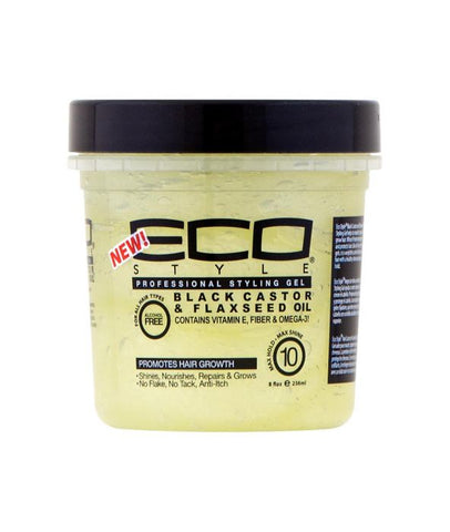 Eco Styler Black Castor & Flaxseed Gel 8oz.