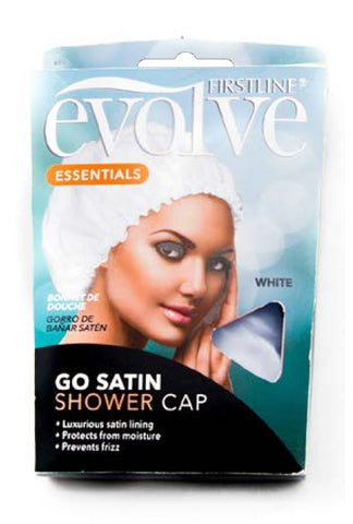 Firstline® Evolve® Go Satin Shower Cap White