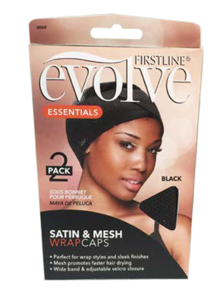 Firstline® Evolve® Satin and Mesh Wrap Cap 2PK