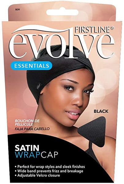 Firstline® Evolve® Satin Wrap Cap black