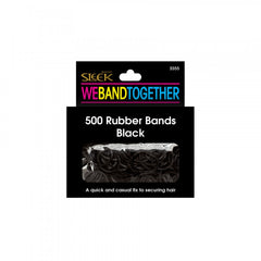 Sleek 500PK Black Rubber Bands