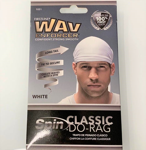 Firstline WavEnforcer Classic Do-Rag White