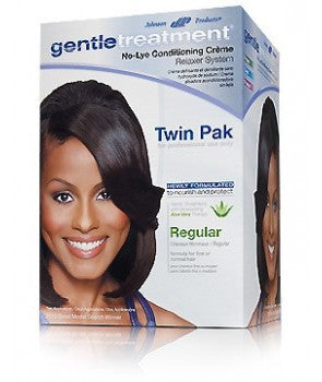 Gentle Treatment No-Lye Conditioning Creme Relaxer Regular Twin Pak