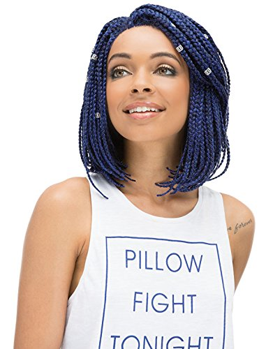 Janet Collection Noir Havana 3S BOX BRAID 24 Blue