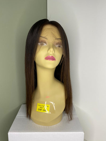 Indian Virgin Human Hair Front Lace Wig N68
