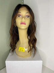 Indian Virgin Human Hair Front Lace Wig N95