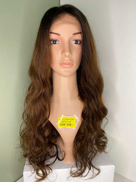 Indian Virgin Human Hair Front Lace Wig SP53