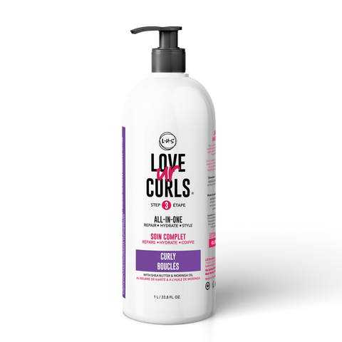 LOVE UR CURLS All-in-One Leave-In: CURLY 32oz