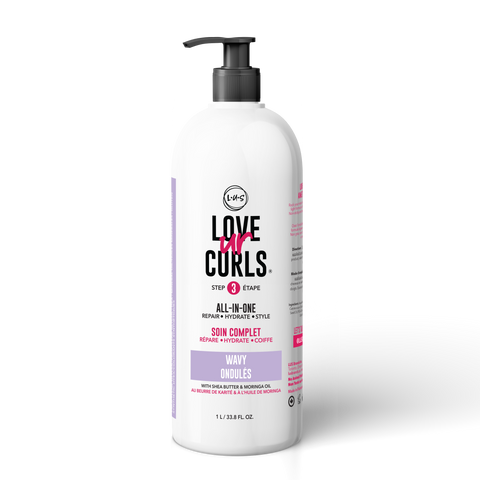 LOVE UR CURLS All-in-One Leave-In: Wavy 32oz
