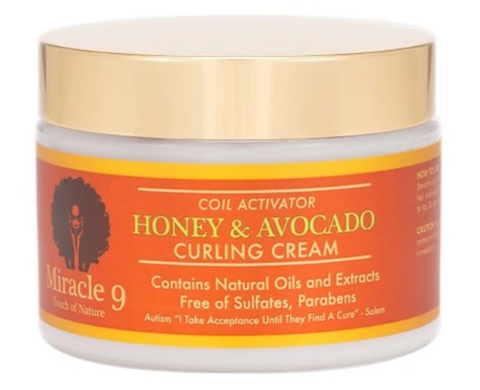 Miracle9 Coil Activator Honey & Avocado Curling Cream