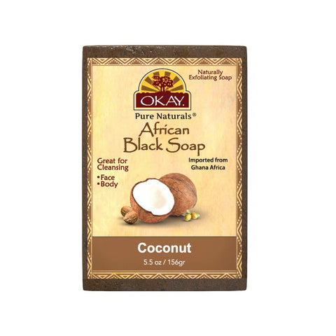 Okay African Black Soap Coconut Bar