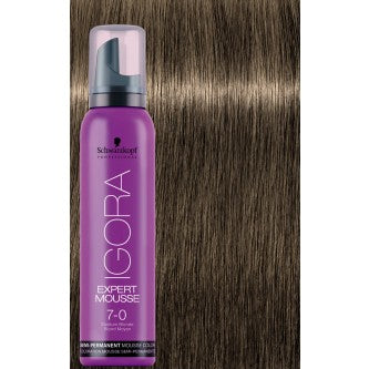 Igora Expert Mousse - 7.0 Medium Blonde