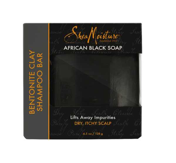 SheaMoisture African Black Soap Bentonite Clay Shampoo Bar