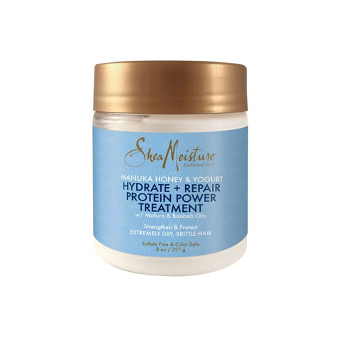 SheaMoisture Manuka Honey & Yogurt Hydrate + Repair Protein-Strong Treatment 8oz