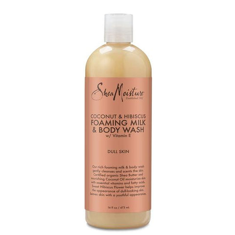 SheaMoisture COCONUT & HIBISCUS FOAMING MILK & BODY WASH