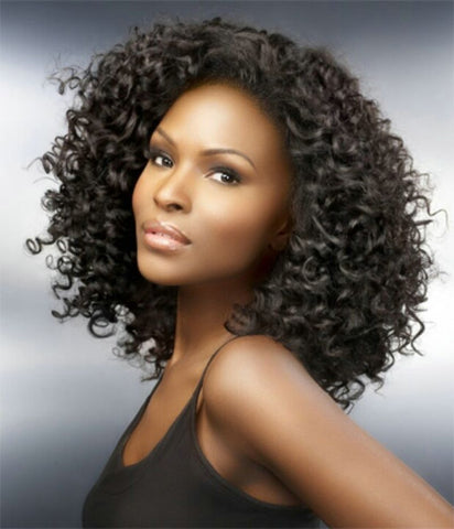"Brazilian Unprocessed Remy Human Hair Weave 12"" Curly"