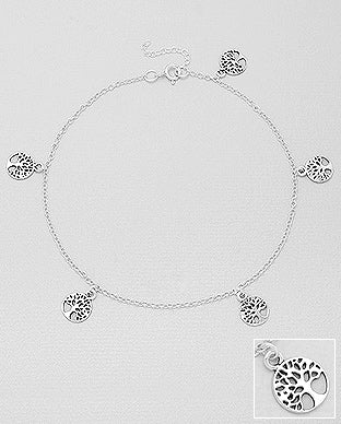 Silver Jewelry Tree of Life Braclet