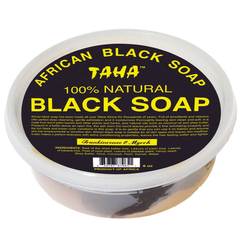 Taha African Black Soap 8oz