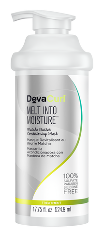 DevaCurl Melt Into Moisture Matcha Green Tea Butter Conditioning Mask 17.75Oz.