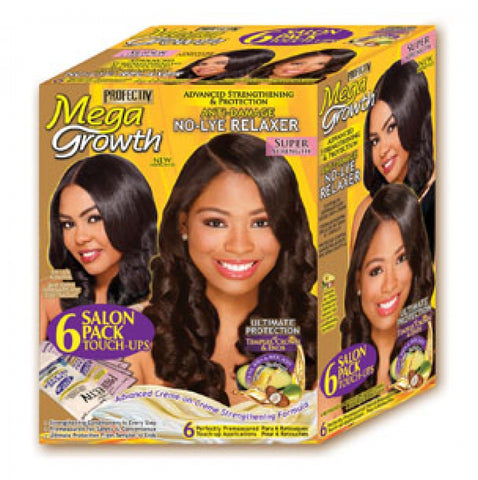 Profectiv Mega Growth No-Lye Hair Relaxer Super Strength 6 Pack